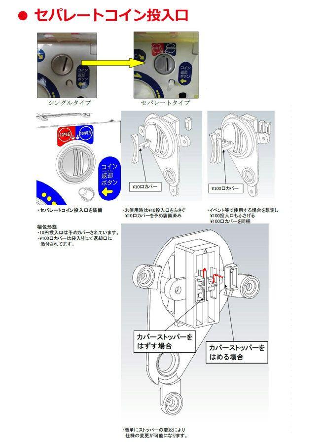 カプセルステーション6 コイン投入口 説明資料